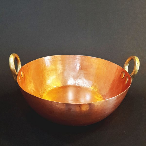 Tacho de Cobre C/ Alças de Bronze