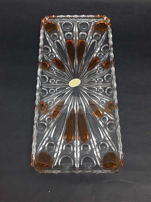 Travessa Cristal Echt Bleikristal Âmbar