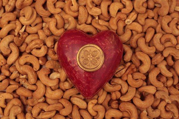 Coração Au Chocolat com Doce de Leite Crocante, Gianduia ou Vegan-Cajutella (a sua escolha)