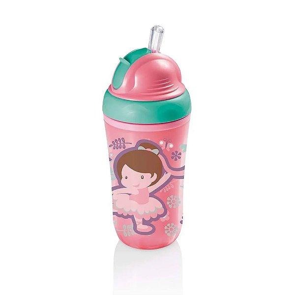 Copo Térmico Com Canudo  Rosa 24M+ Multikids Baby - BB035