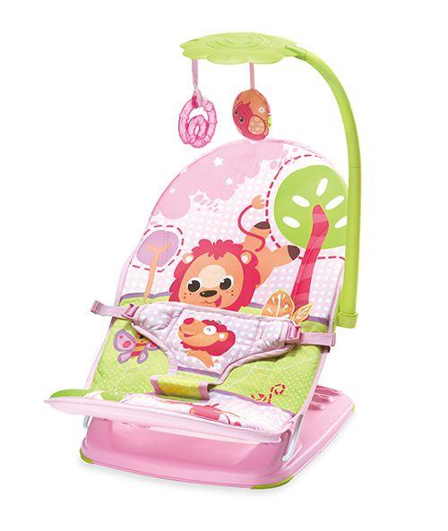 Cadeira De Descanso Mus/Vib Com Reclinio Rosa Leão
