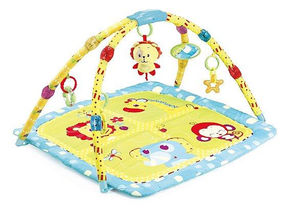 Tapete Infantil Musical Amarelo Leão