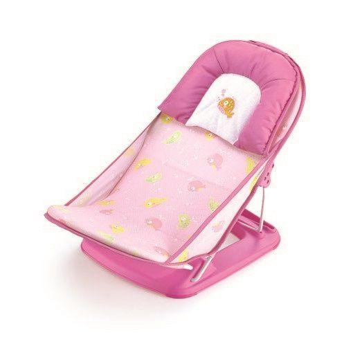 Assento Flexível Redutor para Banheira - Rosa Peixes