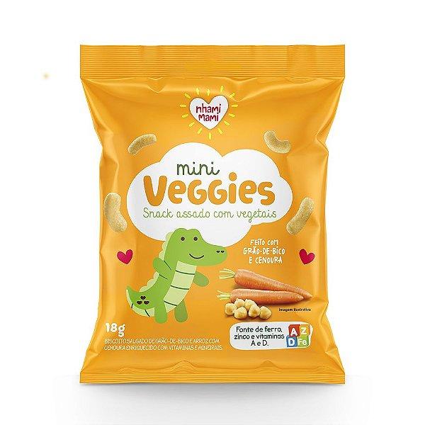 Mini Veggie Snack Integral - Grão de Bico e Cenoura 24 Unidades 18g