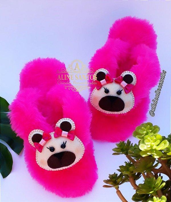 Chinelufa Ursinha Pink