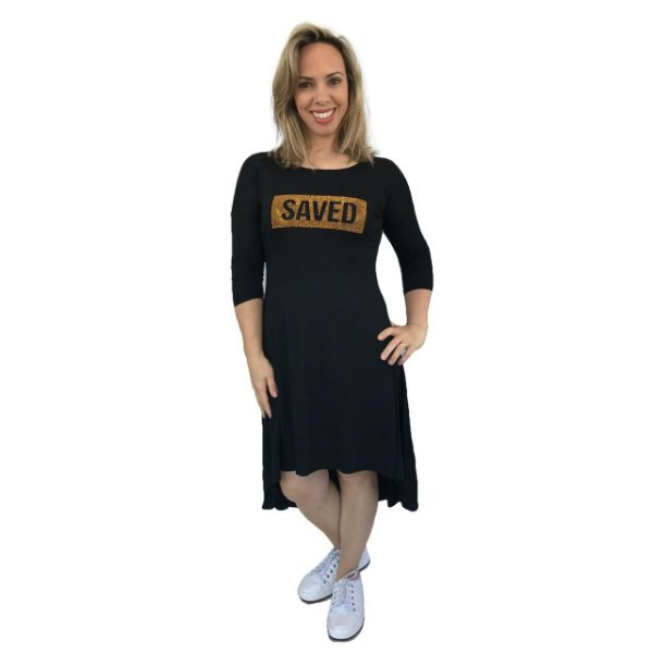 VESTIDO SAVED - PRETO - MULET