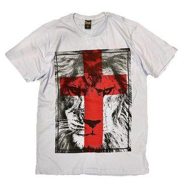 Leão de Judá - cruz vermelha (C) branca
