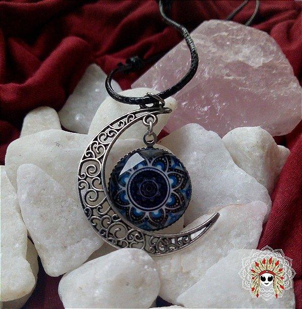 Colar da lua. Medalha com mandalas e geometria sagradas que te conecta ao sagrado