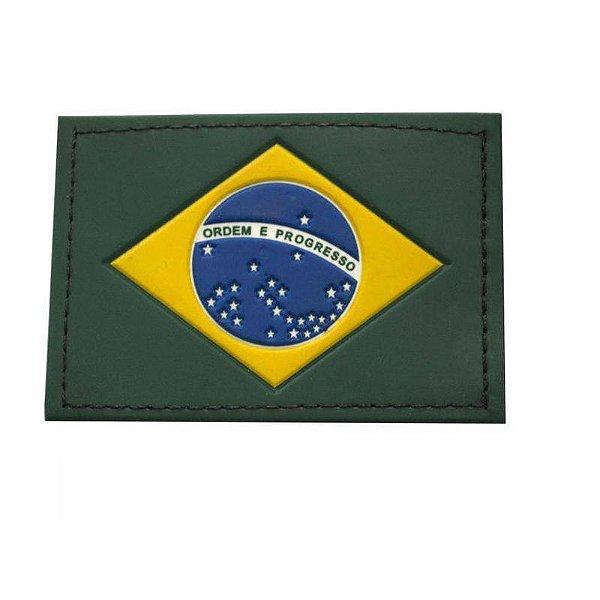 Emborrachado Bandeira do Brasil Cia Militar