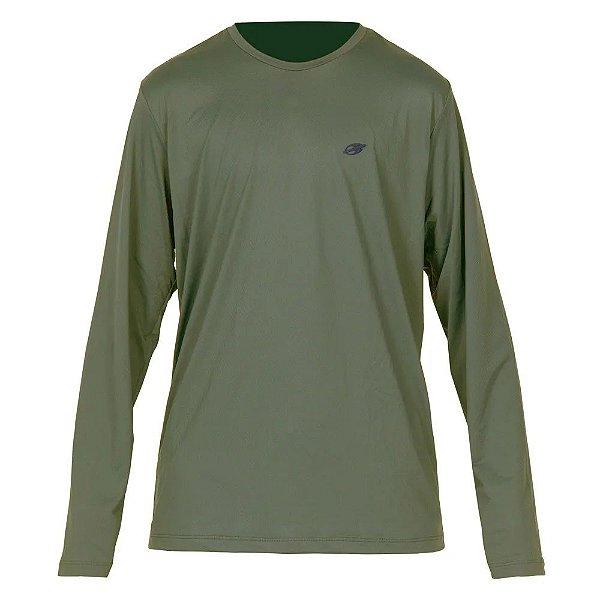 Camiseta Dry Action UV 2A Verde Manga Longa Masculina Mormaii