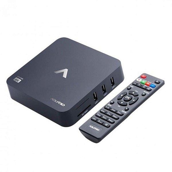 Smart TV Box Android Aquario 4K Ultra HD Quad-Core STV-2000