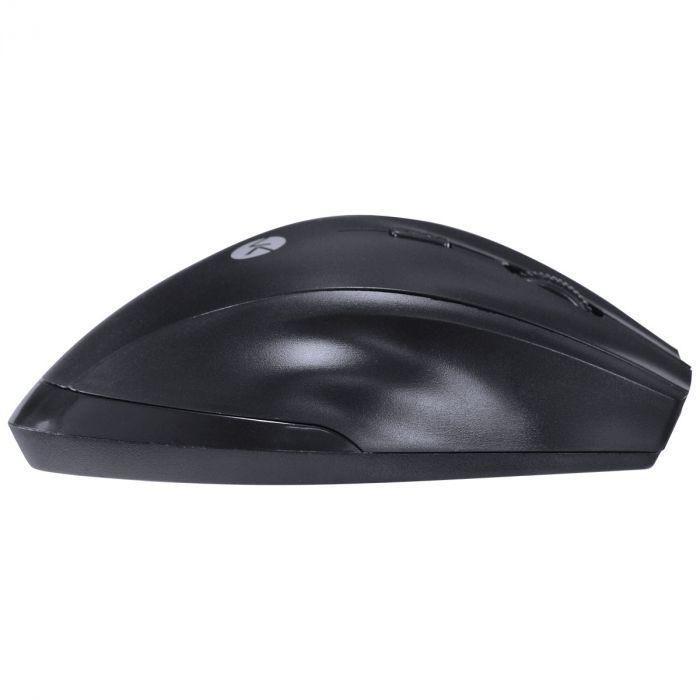 Mouse sem fio hibrido 2.4 ghz + bluetooth 4.0 1200 dpi dynamic ergo preto usb - dm120 - Vinik