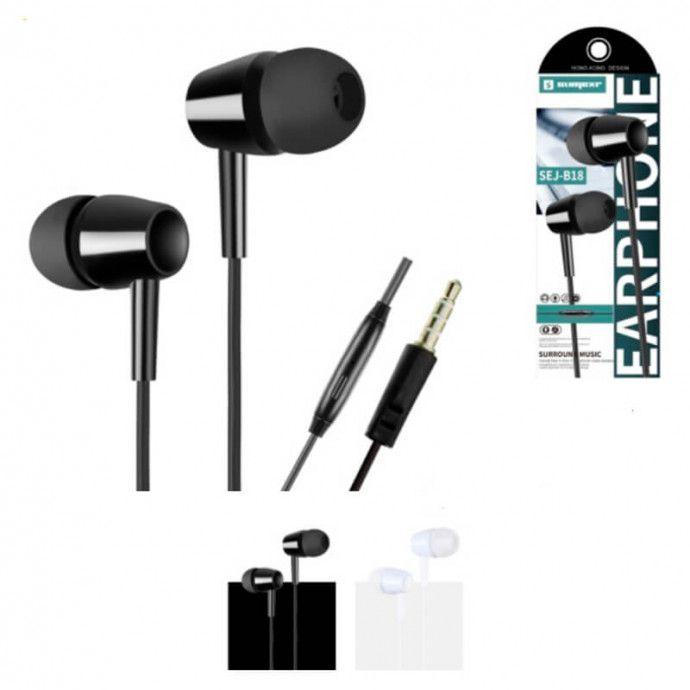 Fone de Ouvido Intra-Auricular com Fio Microfone e Botão para Atender Chamadas Sumexr - SEJ-B18
