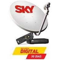 Kit SKY Pré Pago Digital SD 60 CM + Recarga 30 Dias