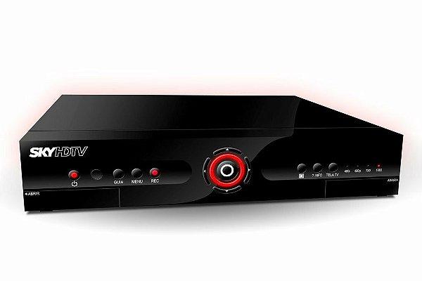 Receptor sky tv pré-pago hdtv plus shr-23 com função gravação
