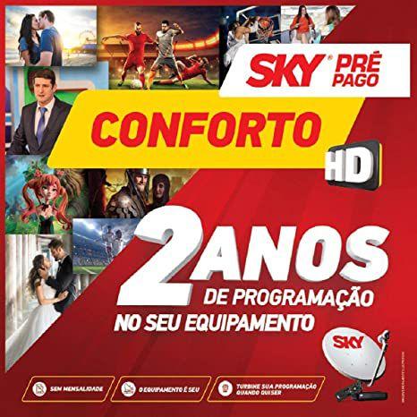 Receptor Oficial Sky Pré Pago Conforto HD Original
