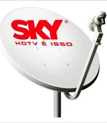 Antena Ku 60cm ( + Cabo E Lnb) Logo Sky, Claro