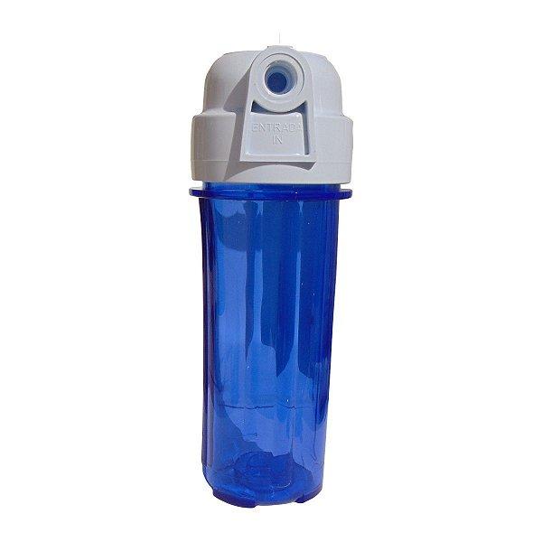 Carcaça Filtro De Água 10¨  Azul  9.3/4 9.7/8