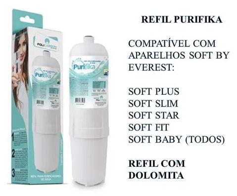 Refil Filtro Purificador Água Soft Everest 2x1