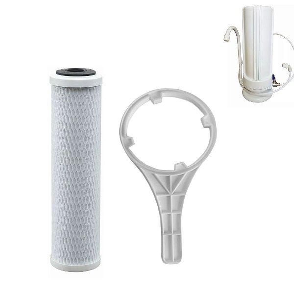 Refil Para Filtro De Água E Purificador Hoken Single E As1C/ Chave