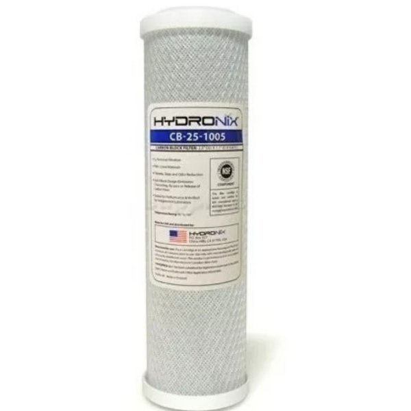 Refil Filtro Carvão Ativado Hydronix 10 Polegadas 5 Micra