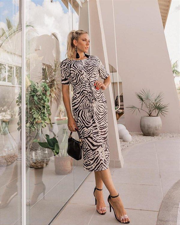 Vestido Zebra Mia