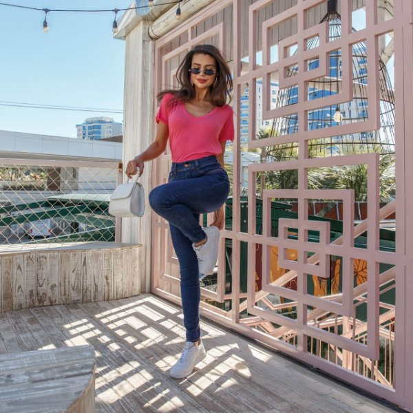 Calça Jeans Feminina Skinny Média Cigarrete-DZ3146