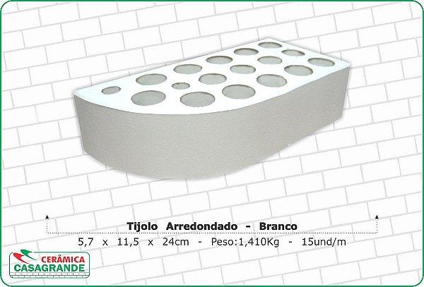 TIJOLO DE CANTO REDONDO BRANCO