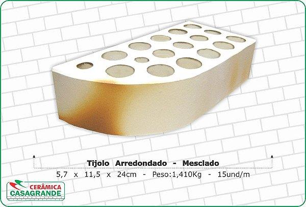 TIJOLO DE CANTO REDONDO MESCLADO