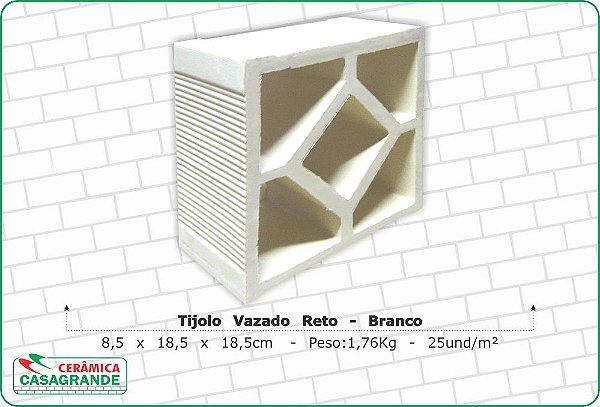 TIJOLO VAZADO RETO BRANCO