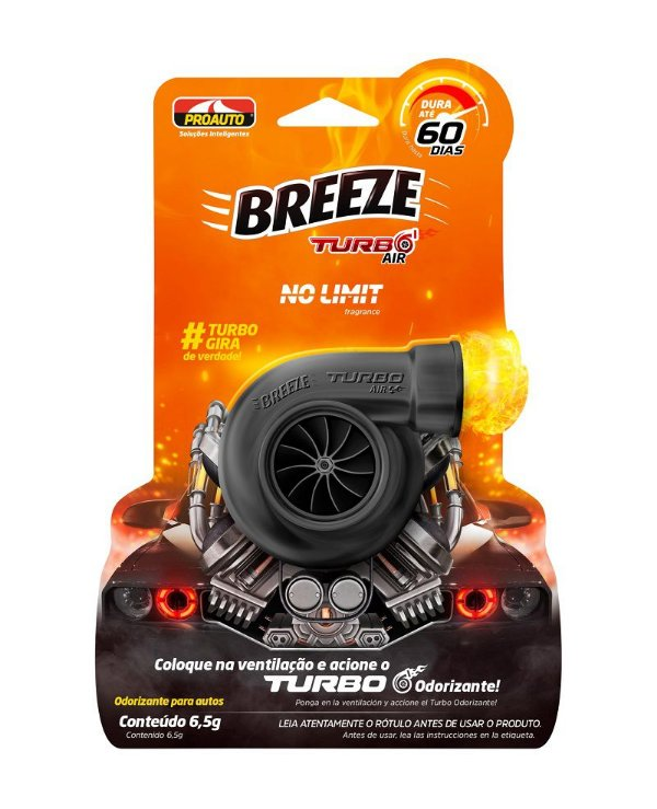 Odorizante Breeze Turbo No Limit 6,5G - Proauto