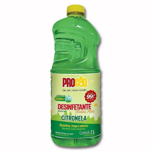 Desinfetante Classic Plus Citronela 2 Litros - Procão