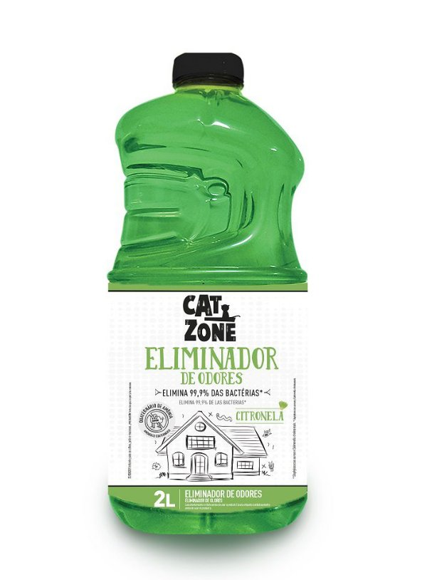 Eliminador de Odores Xô Bactérias Citronela Cat Zone 2 Litros