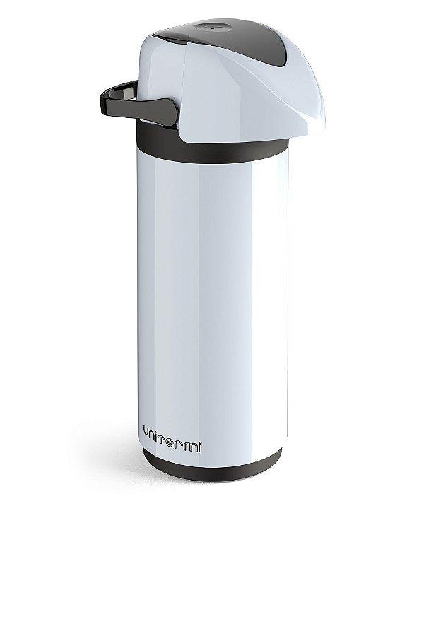 Garrafa Térmica Pressão de Mesa Verona 1 Litro Branca