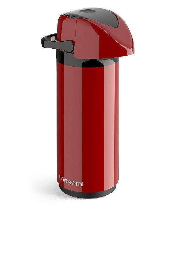Garrafa Térmica Pressão de Mesa Verona 1 Litro Vermelha