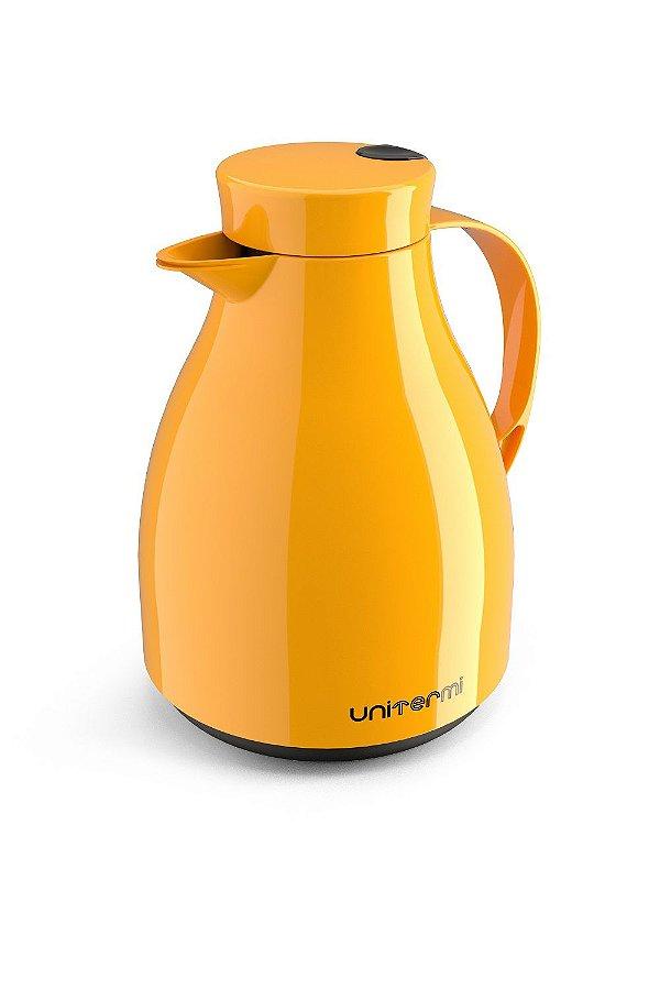 Garrafa Térmica Bule C/ Gatilho Paris 1 Litro Amarelo