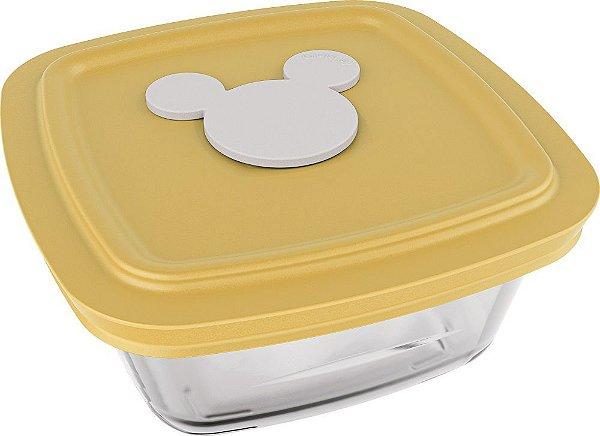 Pote Facilita Disney Baby 300 ml com Tampa Colorida - Azul | Amarelo | Rosa