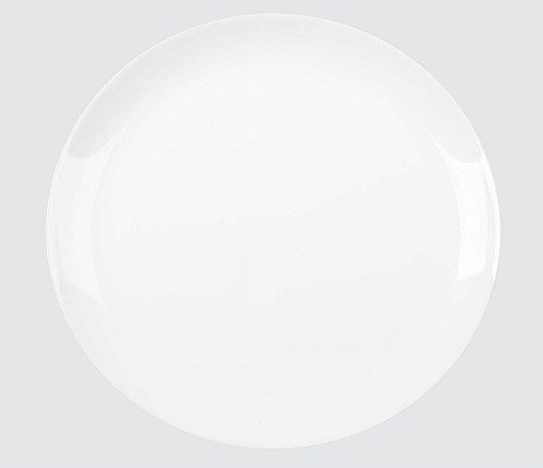 Prato Opaline Blanc Raso 27cm 500G (Peso Controlado) Caixa C/ 12 Unidades - Duralex