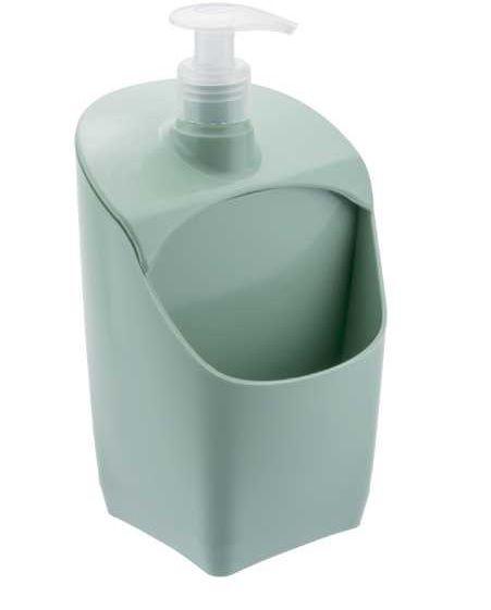 Dispenser C/ Suporte para Esponja Verde Menta Sólido
