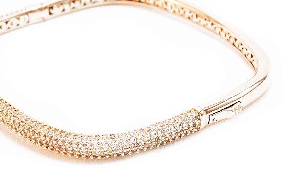 Bracelete Cravejado com Zircônia Cristal