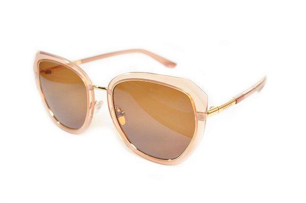 Óculos de Sol Feminino Marrom Claro Polarizado