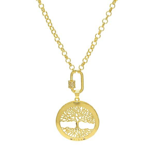 Colar Pingente Mandala Árvore da Vida