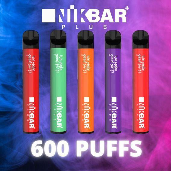 NikBar Plus - Pod Stig Bar - 600 Puffs - Descartavel