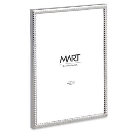 Porta-Retrato Mart Prata Em Metal - 20x25