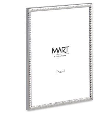 Porta-Retrato Mart Prata Em Metal - 15x20cm