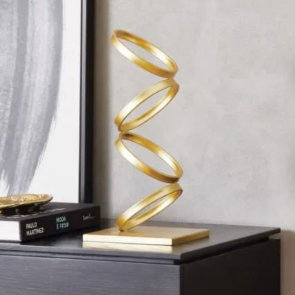 Escultura Dourada Mart Em Metal - 39x18x18cm