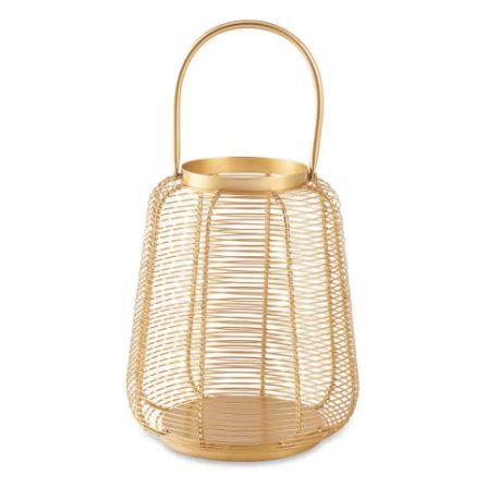 Lanterna Mart Dourada Em Metal