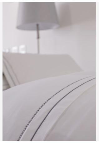 Capa De Edredom Duvet Casal Bordado By The Bed 300 Fios 100% Algodão 3 Peças - W Bridge