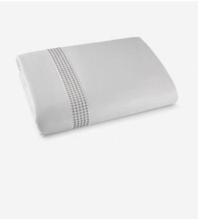 Capa De Edredom Duvet Casal Bordado By The Bed 300 Fios 100% Algodão 3 Peças - Brick