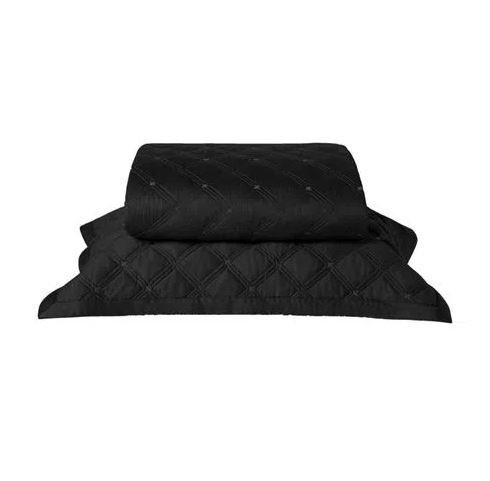 Colcha Com Porta Travesseiro By The Bed Preto Casal